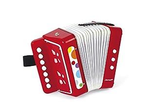 Janod - Confetti acordeón de Juguete de Madera, Rojo (J07620)