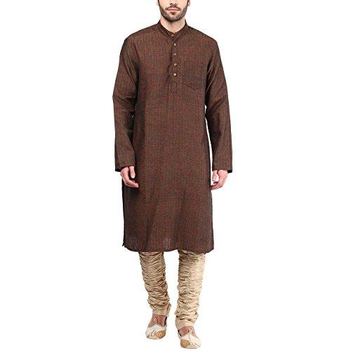 Indus Route by Pantaloons Men's Kurta 205000005577466_Brown_S
