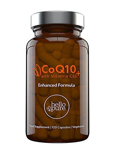 Coenzima Q10 100 mg, 120 cápsulas de alta absorción | CoQ10 de calidad superior con vitamina C y E para aumento de Co-Q10