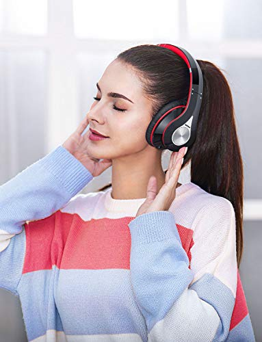 Mpow Bluetooth Kopfhörer over Ear, [Bis zu 20 Std] Hi-Fi Stereo mit Dual 40mm Treiber, CVC 6.0 Noise Canceling für Integriertem Mikrofon Freisprechen - 6
