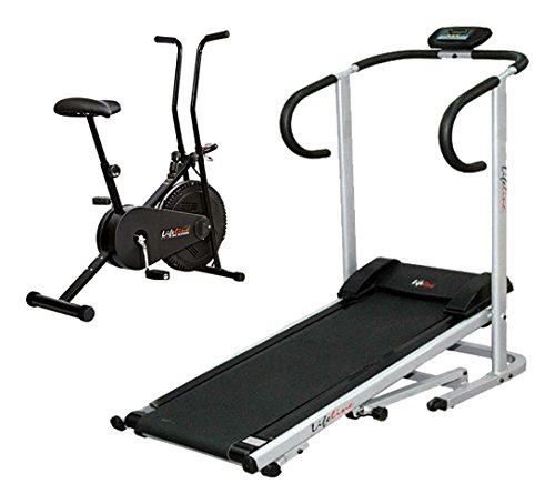 Fitpro Lifeline Treadmill+Lifeline Cycle (Multicolor_Medium)