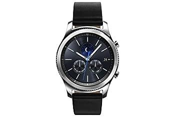 Samsung Gear S3 Classic (3,3 Cm (1,3 Zoll) Display, Nfc, Bluetooth, Wlan, Tizen Os), Mit Echtleder-armband 0
