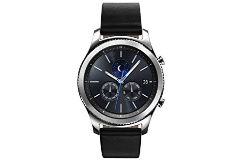 Samsung Gear S3 classic (3,3 cm (1,3 Zoll) Display, NFC, Bluetooth, WLAN, Tizen OS), mit Echtleder-Armband Samsung Smart Tv-touch-screen