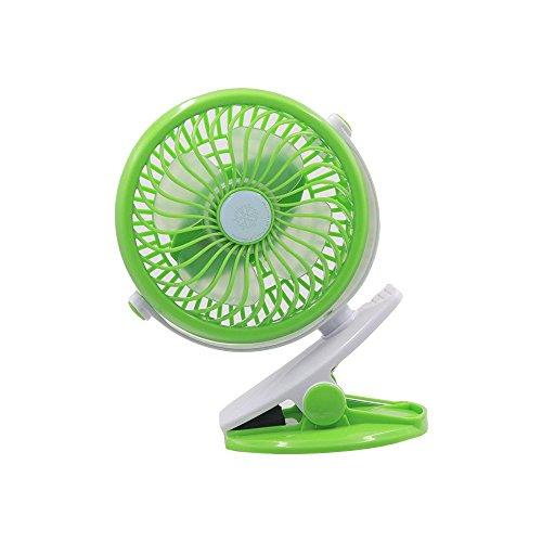 Preisvergleich Produktbild flypro 360º drehbar Wechselrahmen Mini Tragbarer Fan Akku Persönlichen Handheld USB Desktop Fan für Baby Buggy Home Office Outdoor Reise Camping - grün