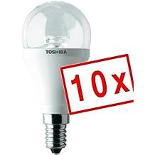 Toshiba LDGC0627CE4EUC LED E14 campo de pera velas de repuesto 6 W, transparente/Transparente