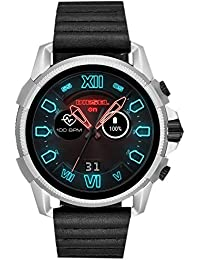 Diesel Herren Digital Smart Watch Armbanduhr mit Leder Armband DZT2008