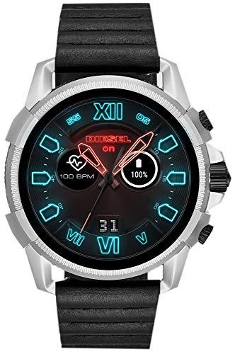Diesel Herren Digital Smart Watch Armbanduhr mit Leder Armband DZT2008