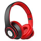 Nicksea Ear headphones Bluetooth 4.0 Over-ear Stereo Earphones Hi-Fi Foldable Wireless Sweat proof Headset with Microphone for Running Calls Compatible with Samsung iPhone iPad Smartphone PC TV Laptop Tablet Audio