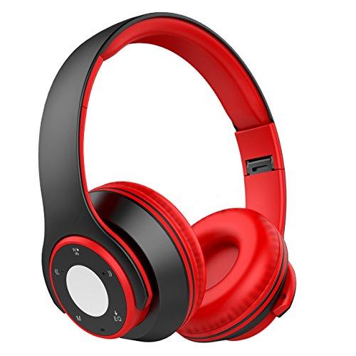 pfhörer Wireless Sport Over Ear 4 in 1 Function 8H Spielzeit, 200H Standby MP3 Audio Player Hi-Fi Audio CVC6.0 Noise Cancelling Headset mit Mikrofon für iOS und Android, PC, usw. ()