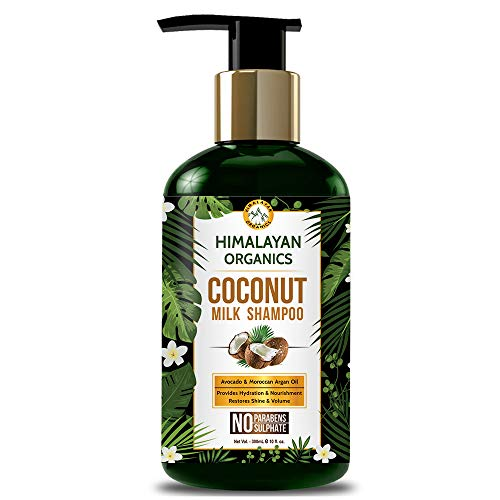 Himalayan Organics Coconut Milk Shampoo   No Parabens, Sulphates, & Silicones   300ml