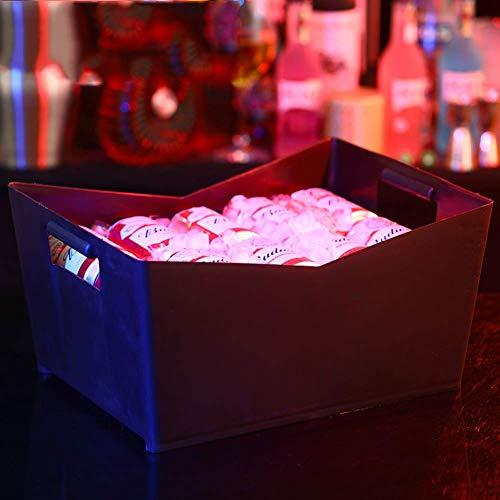 e Kapazität Kunststoff,Ice Tub Mit Griff,Champagner Eimer 6 Farben Wein Eimer Kühler Für Ktv Bar Outdoor-Black-b 41x28x21cm(16x11x8in) ()