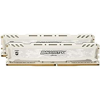Ballistix Sport LT 32 GB Kit (16 GBx2), DDR4, 2400 MT/s, (PC4-19200) Dual Rank DIMM 288-Pin, Bianco, BLS2C16G4D240FSC