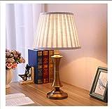 Nachttischlampe Schreibtischlampe Tischlampe Amerikanischen Alle Kupfer Lampe Wohnzimmer Bett Lampe Chinesen Einfach Retro - Tuch Lampe Schaltfläche Wechseln