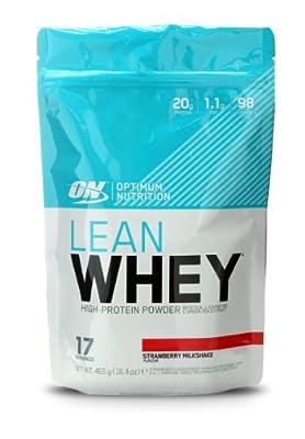 Optimum Nutrition Lean Whey Protein Powder Strawberry Milkshake, 465g by Optimum Nutrition
