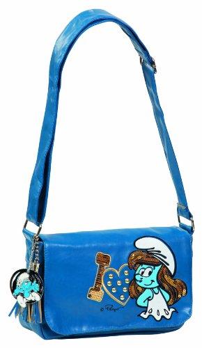 United Labels 0807599 de sac à bandoulière Schtroumpfette, paillettes dorées, aspect cuir