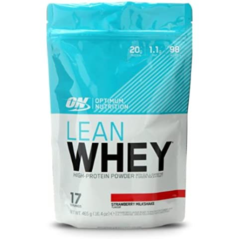 Optimum Nutrition Lean Whey Suplemento para Deportistas, Sabor de Fresa - 465 gr