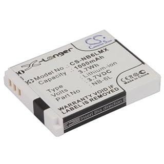 CS Kamera Akku Li-ion 1000mAh/3.7V 3.7V passend für Canon Digital IXUS 200 IS, Digital IXUS 210, Digital IXUS 95 IS, IXUS 105, IXUS 105 IS, IXUS 210, IXUS 300HS, IXUS 310 HS, IXUS 85 IS, IXY 10S, IXY 110 IS, IXY 200F, IXY 30S, IXY 32S, IXY Digital 110 IS, IXY DIGITAL 25 IS, IXY Digital 930 IS, PowerShot D10, PowerShot D20, PowerShot ELPH 500 HS, PowerShot S90, PowerShot S95, PowerShot SD1200 IS, PowerShot SD1300 IS, PowerShot SD3500 IS, PowerShot SD4000 IS, PowerShot SD770 IS, PowerShot SD980 IS, PowerShot SX260 HS, IXY 31S, IXUS 300 HS, PowerShot ELPH 500HS, PowerShot S120, PowerShot SX170 IS, PowerShot SX240 HS, PowerShot SX270 HS, PowerShot SX280 HS, PowerShot SX500 IS, PowerShot SX510 HS / ersetzt Canon NB-6L