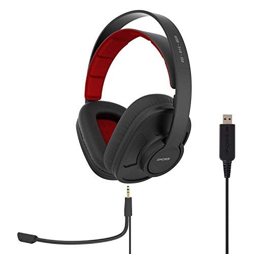 Koss GMR-540-ISO USB Closed-Back Gaming Headphones | Detachable Cord Design  | Two Cords with Microphones Included | Light Weight | Connects via USB