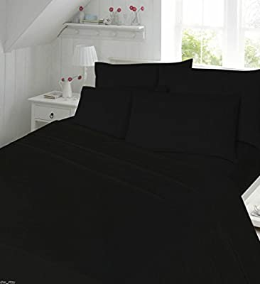 "Extra Deep Fitted Sheets Percale Non Iron Bed Sheets 16 "" / 40 Cm New Single Double King Super King Size 180 Tread Count Plain Dyed High Quality Bedding produced by De Lavish - quick delivery from UK."