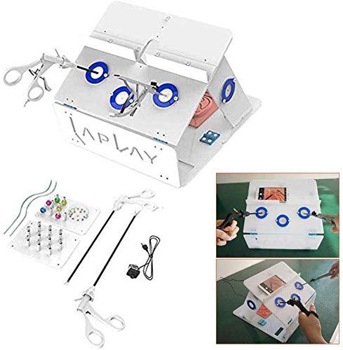 HIMFL Laparoskopische Chirurgie Ausbildung Box Kit mit 4 chirurgischen Instrumenten Und 5 Schulungsmodule 1080 HD Kamera für den Einsatz in chirurgischen Geräten -