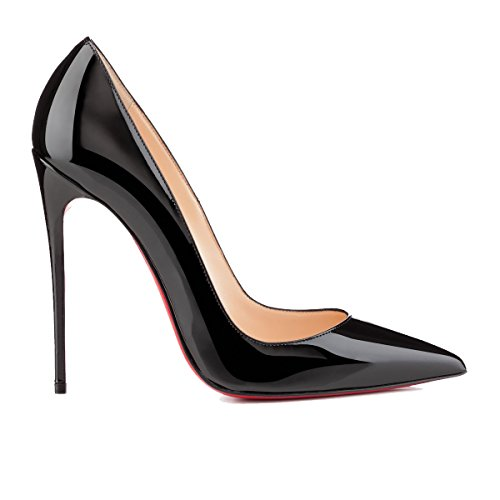 Christian Louboutin Mujer 3130694Bk01 Negro Cuero Zapatos Altos