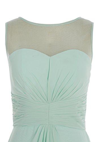 Bbonlinedress Robe de demoiselle d'honneur robe de soirée chiffon longueur ras du sol Blanc