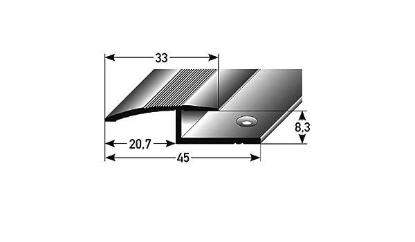 /Übergangsprofil // /Übergangsschiene Laminat 8,3 mm Einfassung gebohrt 1-teilig 27 mm breit Aluminium eloxiert