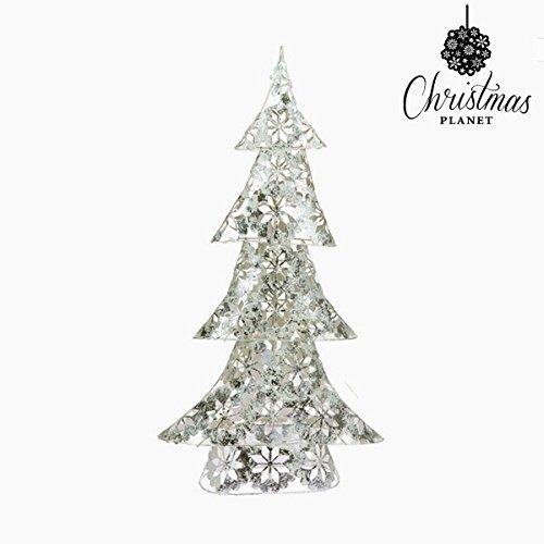 Weihnachtsbaum Eisen Silberfarben (30 x 12 x 60 cm) by Homania (Web-eisen)