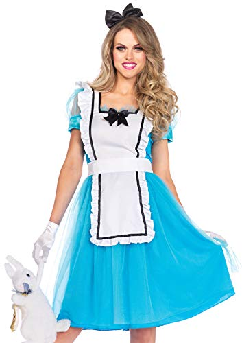 Leg Avenue 85374 - Klassische Alice Damen kostüm , Größe Large (EUR 40) (Alice Und Das Wunderland Kaninchen Kostüm)