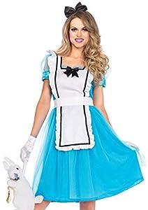 Leg Avenue- Alicia Mujer, Color azul, blanco, Large (EUR 42-44) (8537403059)