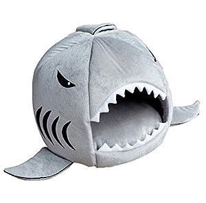Hosaire Mignon Niche en forme Requin pour chien/chat/lapin Niche pour animal