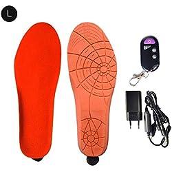 Semelle chauffante, unisexe, chaussures chauffantes rechargeables USB, avec télécommande pour chauffe-bottes ou chasse au peche, randonnée, camping, tailles multiples, gardez vos pieds au chaud