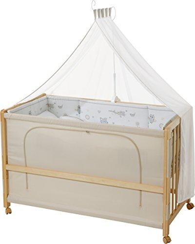 roba Roombed, Babybett 60x120 cm Tierfreunde, Beistellbett zum Elternbett mit kompletter Ausstattung