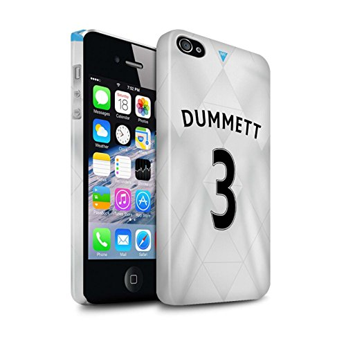 Offiziell Newcastle United FC Hülle / Glanz Snap-On Case für Apple iPhone 4/4S / Pack 29pcs Muster / NUFC Trikot Away 15/16 Kollektion Dummett