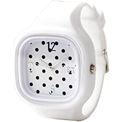 Flexwatches Polka Dot white
