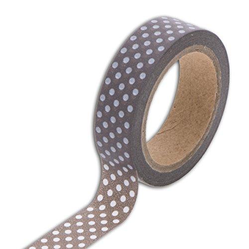 Unbekannt Toga MT84Washi Tape Punkte Washi, Taupe/weiß, 5,5 x 7 x 1,5 cm