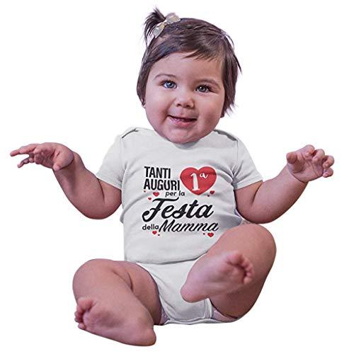 Alwayswin Baby Junge Mädchen Bodysuit Straps Brief Strampler Outfits Neugeborenes (0M-24M) Kinder Brief Roben Overall Strampler Sommer Kurzarm Weiß T-Shirt Romper Babykleidung (Kostüm-partei-ideen Paare Für)