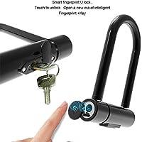 Coche eléctrico Anti-Robo - Huella Digital de desbloqueo de candado en U candado de Bicicleta de Carga T-Bloqueo Cerradura de la Puerta de Vidrio Inteligente Motocicleta Mei