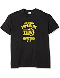 Shirtzshop T-shirt Ich bin ein Papa beim THW