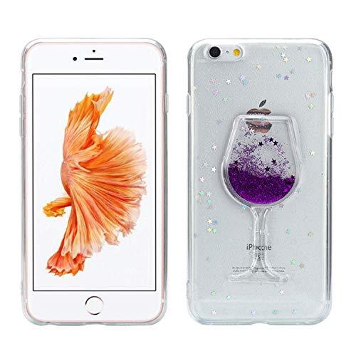 Misstars Glitzer Flüssig Hülle für iPhone 7/8 (4,7 Zoll), Luxus Bling Sterne Pailletten...