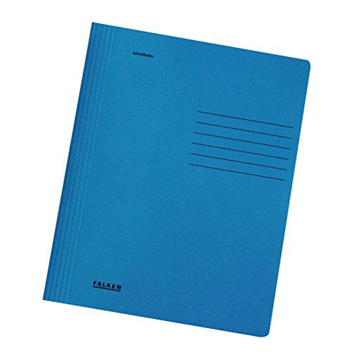 Falken Schnellhefter Intensivfarben aus Recycling-Karton für DIN A4 kaufmännische und Behördenheftung blau Blauer Engel Hefter ideal für Büro und Schule