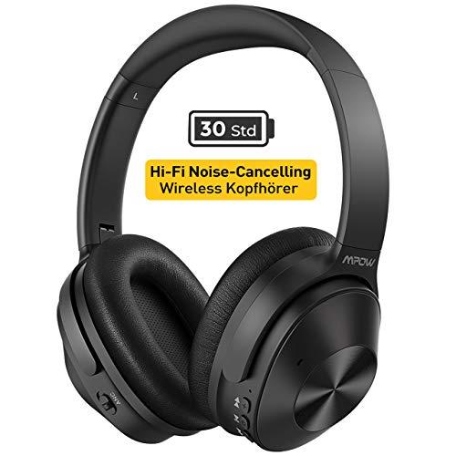 Mpow H12 Noise Cancelling Kopfhörer (ANC), [Bis zu 30 Std] Hybrid-Geräuschreduzierungsmodus, CVC 6,0 geräuschreduzierende Mikrofon, Bluetooth Kopfhörer Over Ear mit Memory Protein-Ohrpolster