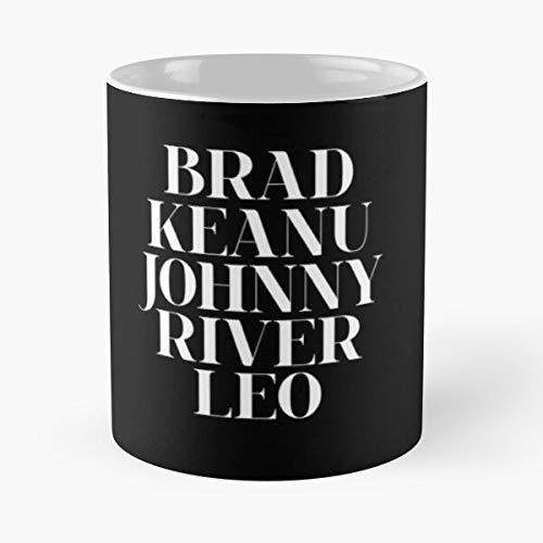 Johnny Depp Keanu Reeves Leonardo Dicaprio Brad Bestseller Mode Geschenk Kaffeetasse schwarz, weiß, Farbe ändern 11 Unzen, 15 Unzen für alle
