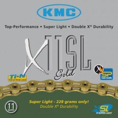 Schaltungskette KMC X-11-SL, gold 112 Glieder 5,5 mm 11-fach, Hohlversion - 2