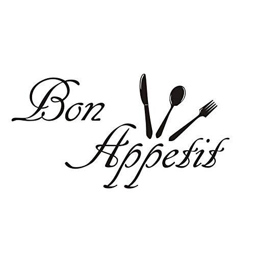 Mode dekoration diy bon appetit charakter küche aufkleber geschirr abnehmbare dekoration wandaufkleber frankreich sagte 82x43 cm