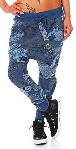 ZARMEXX Trendy Ladies Trousers Boyfriendhose Jogging Pants Haremshose Aladinhose Freizeithose Baggy Boyfriend Sport Loose Fit