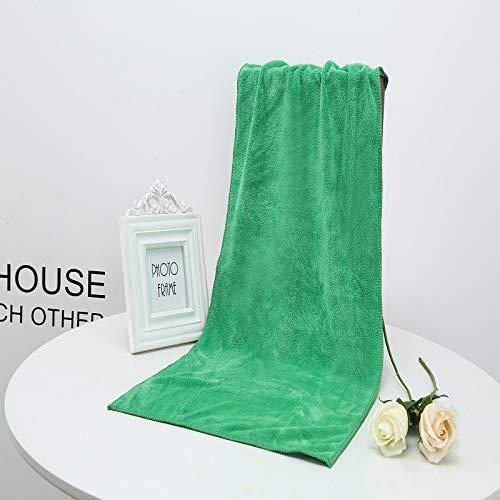 GBSHOP Duschtücher Beauty Handtuch Großhandel Friseur Friseursalon Beauty Salon Bett, spezielles Kopftuch weicher als Baumwoll-Wasser-absorbierendes waschendes Auto, Smaragdgrün, 140x70cm