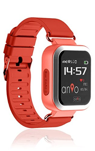 Anio3 touch ROT - Kinder GPS Smartwatch / Schutz für Ihr Kind / SOS Notruf + Telefonfunktion / KEINE MONITORFUNKTION / GPS Uhr / WIFI + LBS, CE & RoHS & EN71 DEUTSCHER SERVER - DEUTSCHE APP (Rot) (Uhr Wifi Touch Screen)