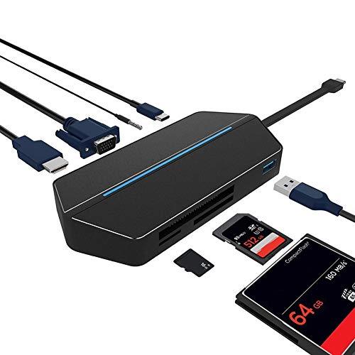 LSQ USB-Typ-C HDMI VGA USB 3.1 Ports Multi Charging Converter Hub-Adapter Telefon-Zubehör und Ersatzteile für PC/Notebook Support IOS