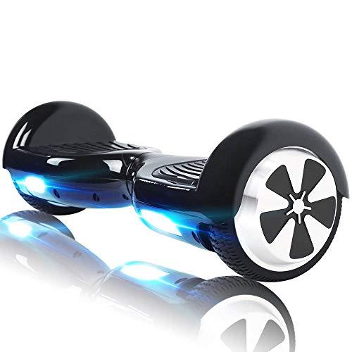 Windgoo Hoverboard Enfants, 6,5 Pouces Overboard Électrique, Auto-Équilibrage Tout Terrain Board pour Adultes Cadeaux, Noir